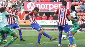 Sporting-Girona hoja rojiblanca