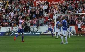 Sporting-Tenerife hoja rojiblanca