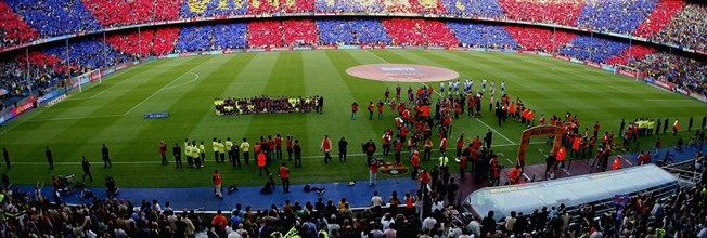 El Sporting invitado a ver el partido en el campo del Barcelona